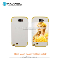 Sublimation Card Insert 3D Phone Cover for Samsung Note 2 N7100