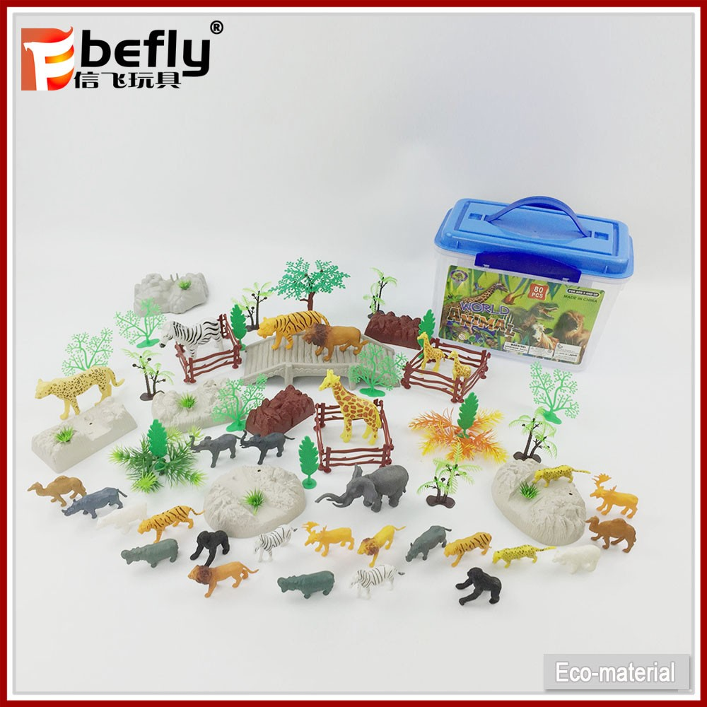 2017 kids small pretend play plastic wild animal toys for sale