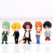 Hot Japanese Anime figure One Piece action figure Mini PVC figure set of 5pcs