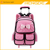 Girl's wheels student school bag trolley case kids travel bags girls school bags