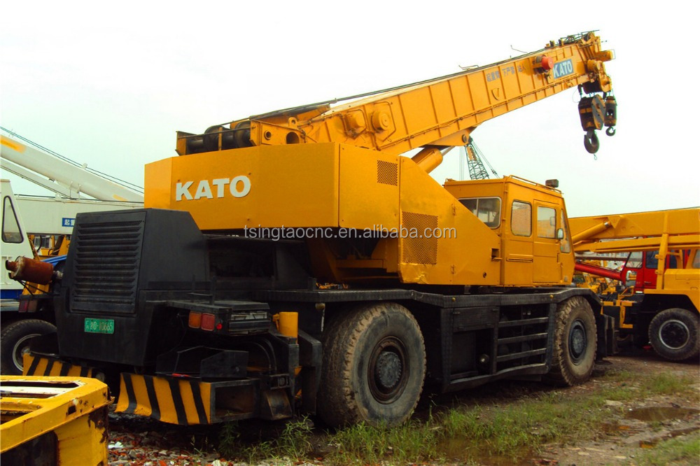 Japanese used rough terrain crane kato 50ton for sale, hot sale in shanghai!