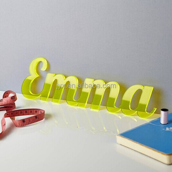 custom acrylic fluorescent letters and numbers wholesale With custom plastic letters