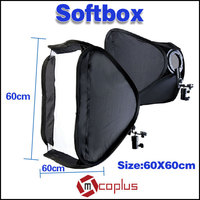 Mcoplus Off Camera Foldable Softbox Diffuser Softbag 60*60cm for Studio Flash Lighting for Canon 430EX ii for Nikon SB900 SB800