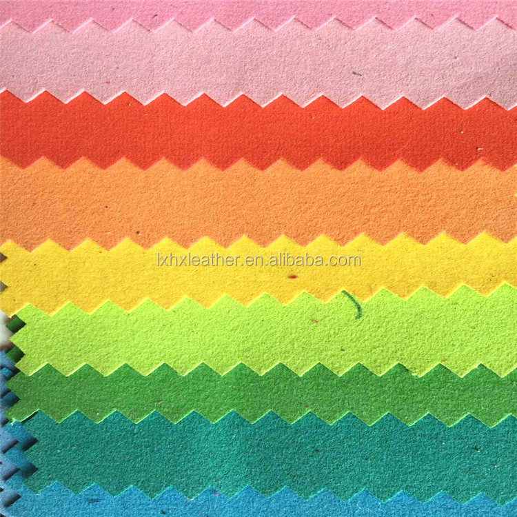 Colorful microfiber suede leather soft material for jewelry packing box HX1004