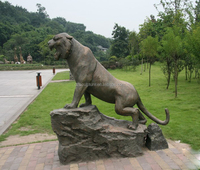 New products large garden bronze tiger statue for sale
