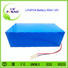 High quality 4S10P 26650 lifepo4 12v 30ah battery pack
