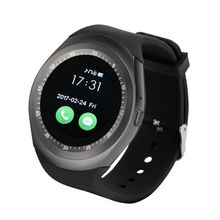 2017 Factory Wholesale Y6 Android Smart Watch with Round Screen, Support Sim Card and Memory Extend