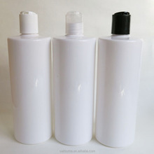 cylinder round white shampoo bottle 500ml with disc cap