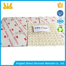Rectangular Antislip 3M Adhesive Rubber Foot Pads With Texture