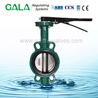 wafer type handle lever clamped type carbon steel wafer butterfly valve