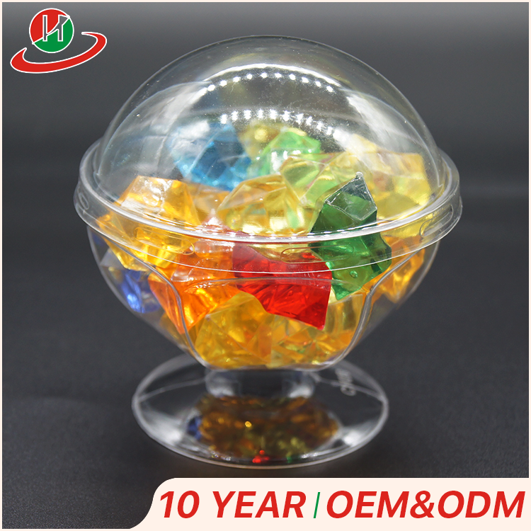 Hot Sale custom made small hexagon disposable plastic icecream dessert pudding cup
