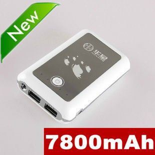 power bank case for premier i9260 with dual USB outputs for iPhone5,Samsung Tablet PC 7800mah