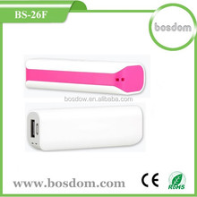 BS-26F hot sale mobile custom power bank 2600mah for samsung grand duos
