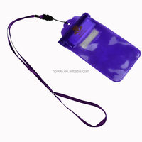 customize new desiugn pvc zipper phone waterproof bag pouch