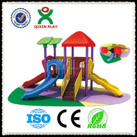 China Plastic spiral slide tube, slide with swing, outdoor slides for kids/QX-067C