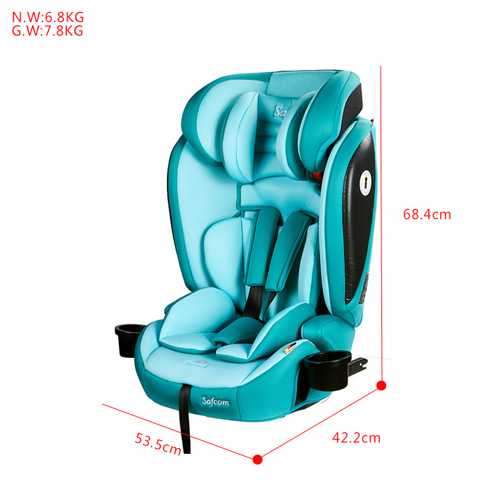 YY11 FMVSS213 ISOFIX China Made safety car seat for Group1+2+3 (9-36kg ) baby use