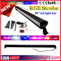 Hot sale Color changing light bar RGB 288W offroad jeep 50 inch remote control led light bar