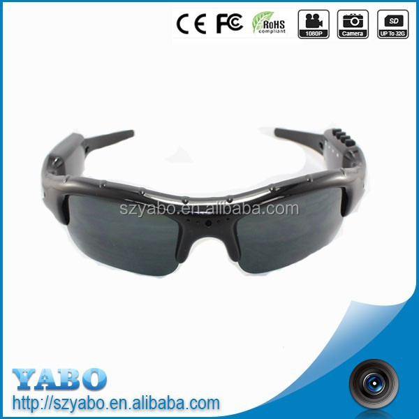 MP3 DVR Hunting Camera Sunglasses Mobile Eyewear Recorder HD 1280*960 Max 32 GB