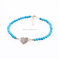 Handmade Fashion Heart Shape Crystal Bracelet