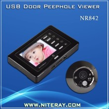 Motion detect digital door peephole viewer door camera