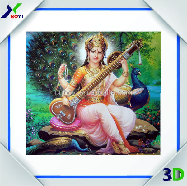Promotion wall hanging poster 3d indian god pictures