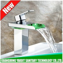 Designer hot sell led lavatory sink tap, whirlpool led waterfall faucet