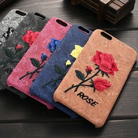 High Quality Back Case Cover For iPhone Smartphone, Flower On For iphone 6s Mobile phone Case Wholesale