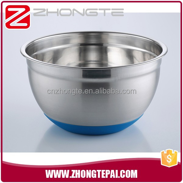 zhongte Factory Wholesale Stainless Steel Mixing Bowl, Stainless Steel Salad Bowl