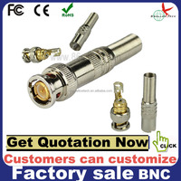 manufacture sales 75 ohm cctv rg59 male bnc connector