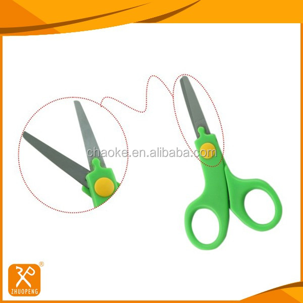 "4"" FDA best price plastic handle safety children craft scissors"