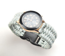 NEW ARRIVAL HANDMAKE 550 PARACORD COSTOM SURVIVAL WATCH BRACELET CLIMBING