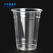 custom printed clear transparent disposable PET plastic cup with lid