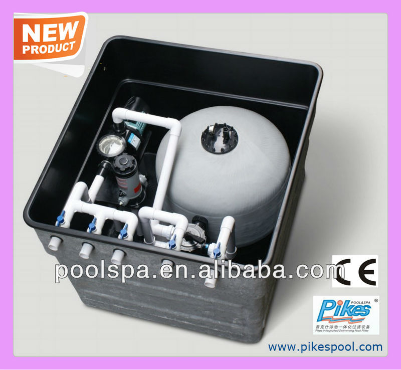 Inground type outdoor swimming pool filter equipment