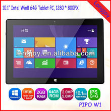 "10.1"" Intel Quad Core Windows8 Tablet PC 2GB Ram 64GB EMMC Best Quality with Best Price"