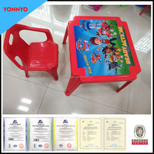 School Plastic Table and Chair Set for kids study