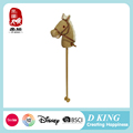 Hot Christmas Gift ICTI , Sedex , EN71 audit antique plush wooden toy stick horse with music