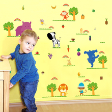 Vegetables Fruits tree Animals cartoon Wall Sticker for Living room Bedroom Kids Room kindergarten Home Decor Wall Decal SK9097