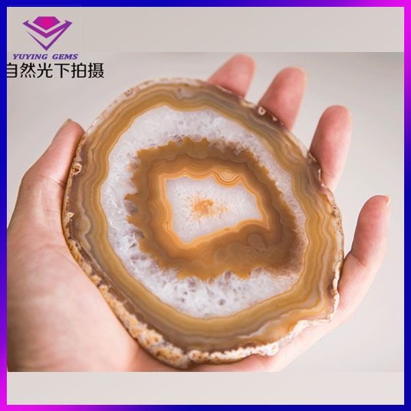 natural agate slice wholesale, colorful agate slabs