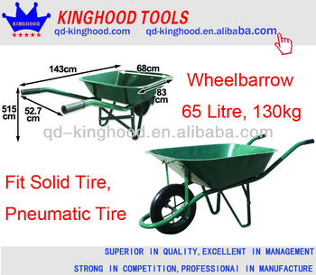 65 Litre WheelBarrow WB6400 with 130kg Max Capacity