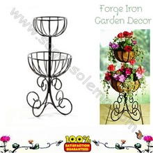 Decorative Wrought Iron 2 Tier Planter