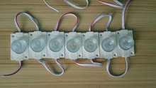 COB 3W DC12V WHITE COLOR LED module;high bright;20pcs a string;with convex lens
