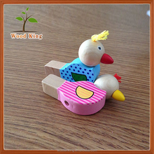 Children Baby Toys Musical Play Cute Cartoon Wooden Musical Instrument Toy Slide Funny Bird Whistle