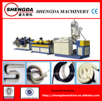 PVC/PE/PP plastic single wall corrugated pipe manufacturing machine/production line/cable protection pipe making machine