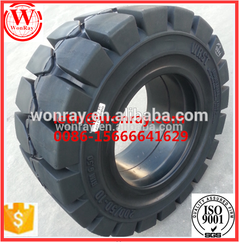 Hot china products wholesale forklift solid rubber wheel tires , 7.00-12 solid forklift tire Used On Small Warehouse