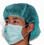 Hot sale nonwoven green disposable face mask with earloop