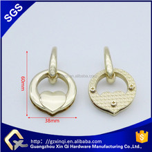zinc alloy metal o ring hanger for bag hardware