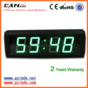 "[Ganxin] 2.3"" 6digit 12h/24h Display Mode LED Alarm Clock LED Display time clock"