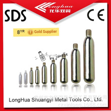 hot-selling 65gram co2 cylinders with Thread best quality 16g20g33g38g42g22g60g74g88g94g