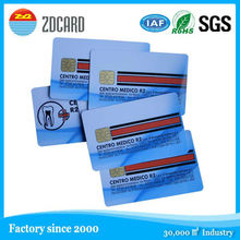 standard size RFID contact ic smart card with SLE4442 chip