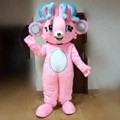 HOLA pink custom mascot costume for sale